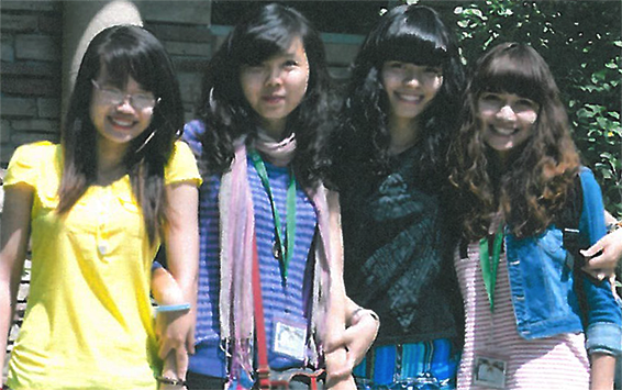 Photo of Hien, Arita, Aimee, Lizzie
