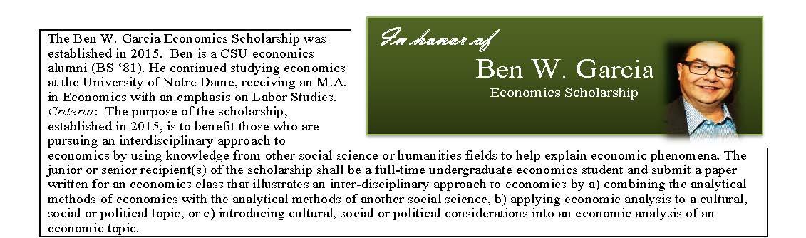 Garcia Economics Scholarship