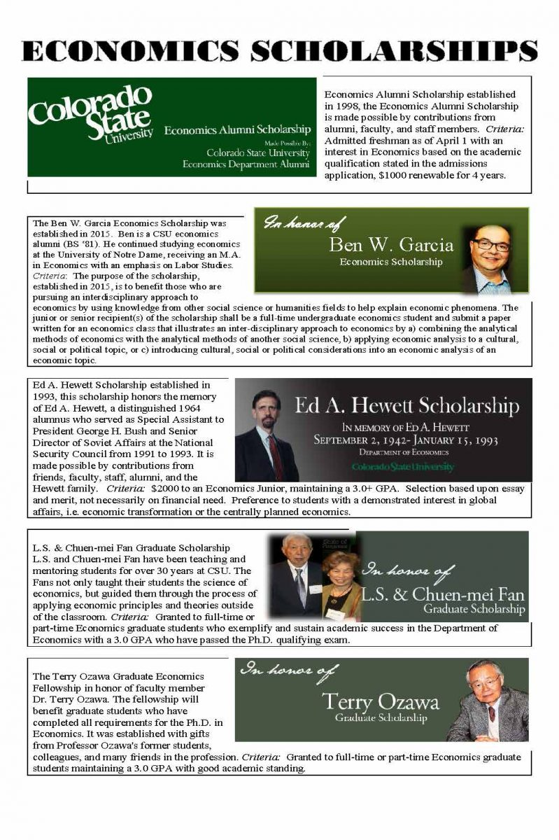 Economics Scholarship FLYER 2016