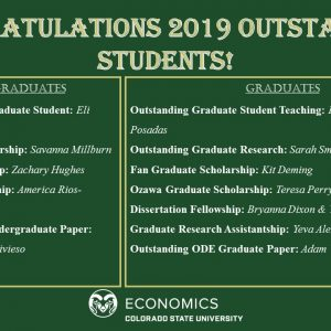 2018-19 Student Award and Scholarship winners